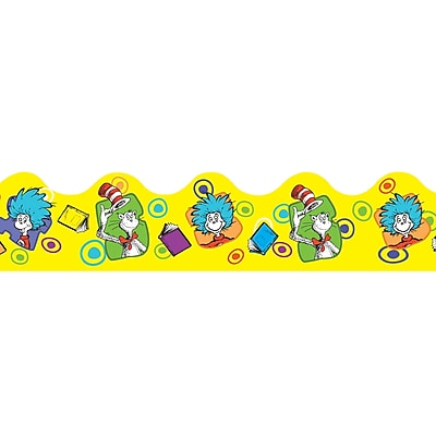 Eureka Extra Wide Die-Cut Deco Trim, Dr. Seuss, Yellow, PreK - 12th Grade (EU-845242)