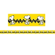 "Eureka 2.25"" x 37' Peanuts Yellow with Snoopy Deco Trim, 12 Pack (EU-845253)"