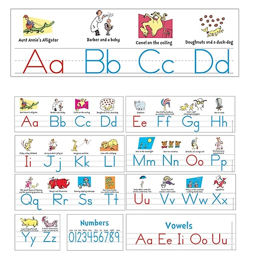 "Eureka Dr. Seuss 24"" x 17"" Manuscript Alphabet Alpha Set (EU-847642)"