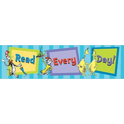 Eureka Dr. Seuss Products, Cat in the Hat Read Everyday, Banner
