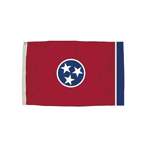 Flagzone Tennessee Flag with Heading and Grommets, 3' x 5', Each