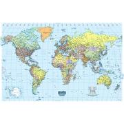 """House Of Doolittle® Laminated World Map, 25"""" x 38"""""""