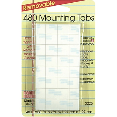 "Miller Studio Removable Tabs, 1/2"" x 1/2"",6 packs of 480 tabs (MIL3225)"