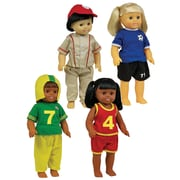 Get Ready Kids® Sports Doll Clothes, 4/Set