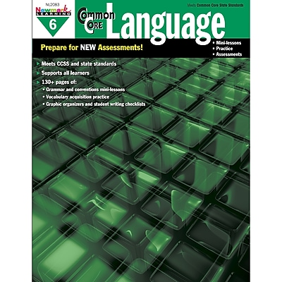 Newmark Learning Common Core Practice Language Activity Book, Grade 6