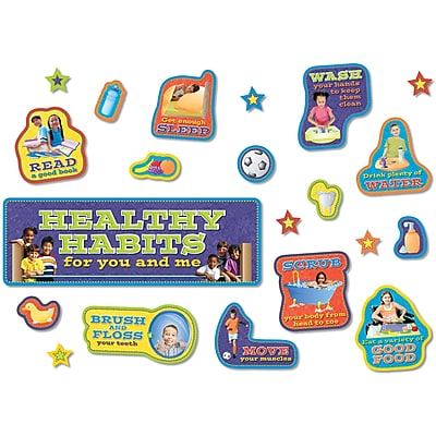North Star Teacher Resources® Healthy Habits Bulletin Board Set