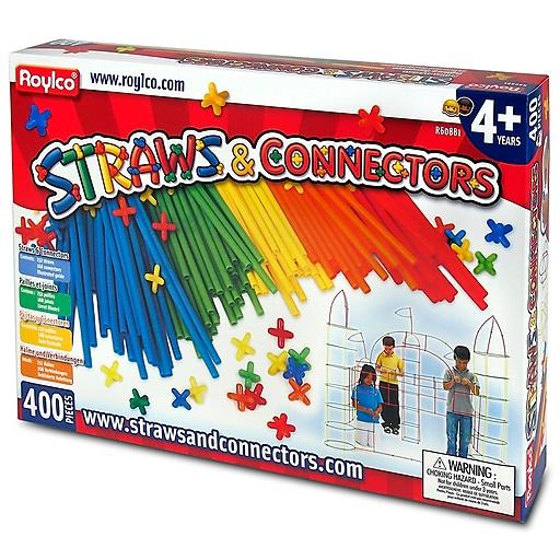 """Straws & Connectors® Multicolor, 14.25"""" x 10"""" 400 pieces (R-60881)"""