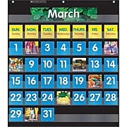 Scholastic Teaching Resources Monthly Calendar Pocket Chart with Cards, Black, Ages 5-10 (SC-583866)