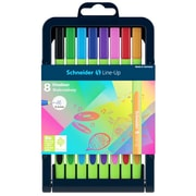 Schneider Line-Up, Fine Liner Pens, Assorted Colors, 8/Pk (STW191098)