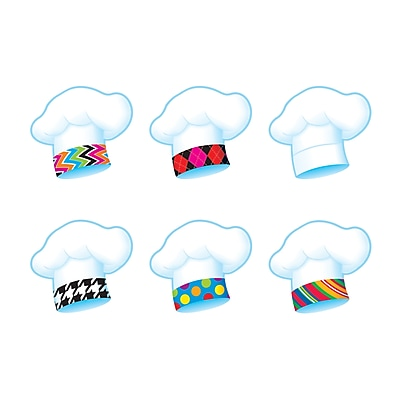 "Classic Accents 3"" Chef's Hats Mini, The Bake Shop, Multicolor (T-10885)"