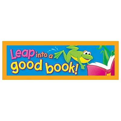 Trend® Bookmarks, Leap into a good book!