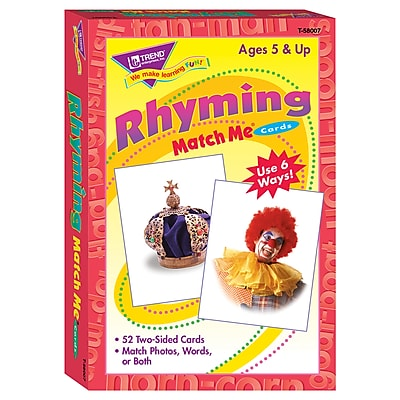 Trend® Match Me® Cards, Rhyming Words