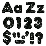 """Trend Enterprises® Sparkle Casual 4"""" Uppercase/Lowercase Ready Letters® Combo Pack, Black"""