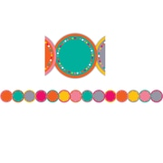 Teacher Created Resources 35' x 2.75'' Tropical Punch Circles Die-Cut Border Trim, Pack of 12 (TCR3499)
