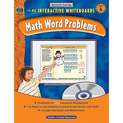Teacher Created Resources Interactive Learning: Math Word Problems Book, Grade 4