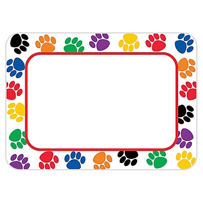 Teacher Created Resources Infant - 6 Grade Name Tag, Colorful Paw Prints, 36/Pack