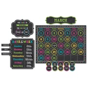 Teacher Created Resources Chalkboard Brights Calendar Bulletin Board Set, 84/Set (TCR5615)