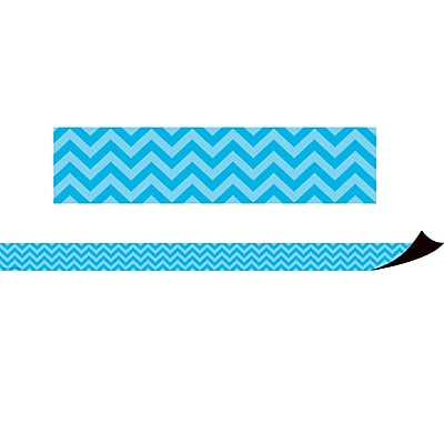 Teacher Created Resources Magnetic Borders, Aqua Chevron, 24