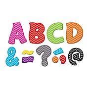 "Teacher Created Resources Chevron Fantastic Font 3"" Magnetic Letters, 67 Pieces (TCR77213)"
