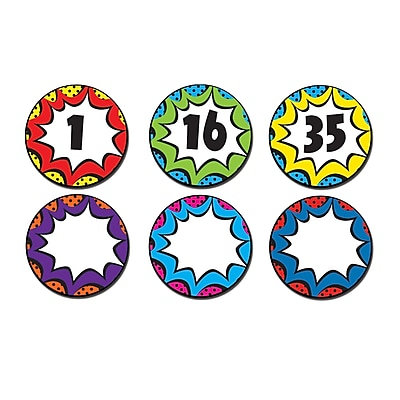 Teacher Created Resources Superhero Numbers Magnetic Accents, 42/Pack (TCR77271)