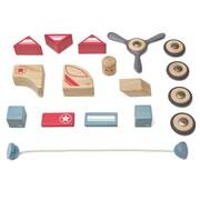 Tegu Wooden Skyhook Block Set, Assorted, 17 Pieces (TEGSKHOGL411T)