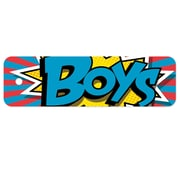 "Top Notch Teacher Products® Plastic Hall Pass 2.25"" x 7.75"", Action Boys Pass, Bundle of 3 (TOP10118)"