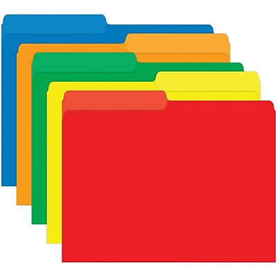Top Notch Teacher Products® Mini File Folder, Primary Assorted (TOP3370)