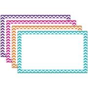 "Top Notch Teacher Products® 3"" x 5"" Blank Border Index Card, Chevron"