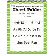 "Top Notch Teacher Products Chart Tablet, 1.5"" Ruled Flip Chart, 24"" x 32"", Green Polka Dot, 25 Sheets (TOP3848)"