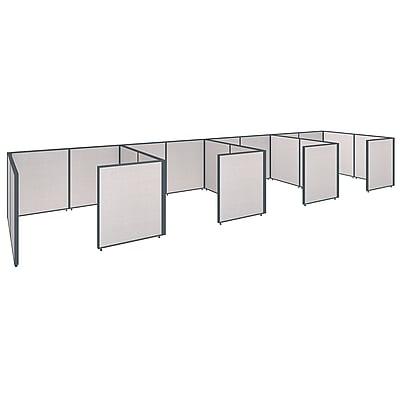 Bush Business Furniture ProPanels 288W x 72D x 42H 4 Person Closed Cubicle Configuration, Light Gray (PPC016LG)