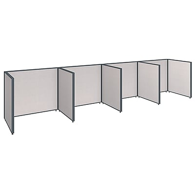 Bush Business Furniture ProPanels 192W x 36D x 42H 4 Person Open Cubicle Configuration, Light Gray (PPC014LG)