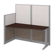 "Bush Business Furniture Office in an Hour 65""W x 33""D Cubicle Workstation, Mocha Cherry (WC36892-03K)"