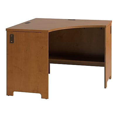 Bush Business Envoy 42W x 42D Corner Desk, Natural Cherry