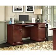 kathy ireland® Home by Bush Furniture Bennington Credenza Desk, Harvest Cherry (WC65510-03K)
