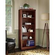 kathy ireland® Home by Bush Furniture Bennington 5 Shelf Bookcase, Harvest Cherry (WC65515-03)