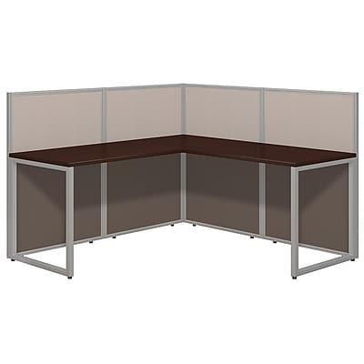 Bush Business Furniture Easy Office 60W L Desk Open Office, Mocha Cherry(EOD360MR-03K)