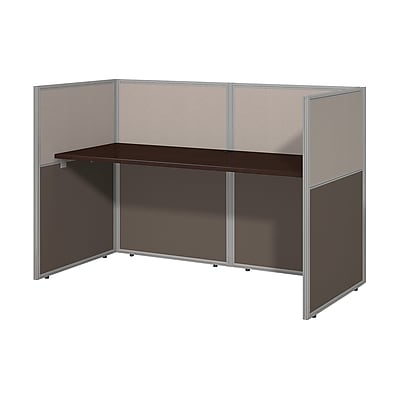 Bush Business Furniture Easy Office 60W Straight Desk Closed Office, Mocha Cherry(EOD260MR-03KFA)