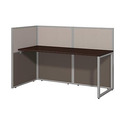 Bush Business Furniture Easy Office 60W Straight Desk Open Office, Mocha Cherry(EOD160MR-03K)