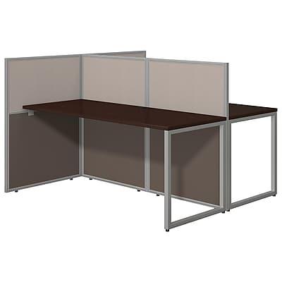 Bush Business Furniture Easy Office 60W 2 Person Straight Desk Open Office, Mocha Cherry(EOD460MR-03K)