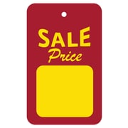 "Wamaco Retail Sale Price Tags, 1.3/4"" x 2 7/8"" Red and Yellow, 1000/Box"