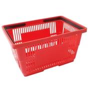 Wamaco Large Shopping Basket, Red, Black Handle, 5/Pack