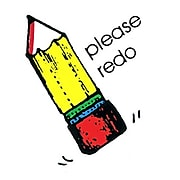 Please Redo Sweet-Arts Artistic Rubber Stamp