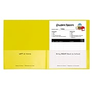 C-Line Classroom Connector School-to-Home Heavyweight File Folder, Letter Size, Yellow, 25/Box (CLI32006)
