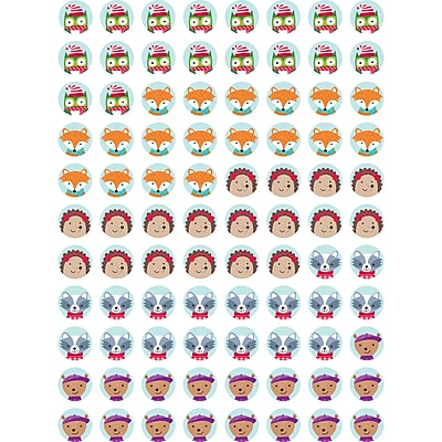 Winter Woodland Friends Hot Spots Stickers, multicolor, Pack of 880 (CTP7139)