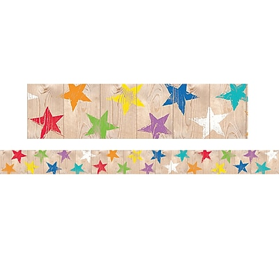 Creative Teaching Press Upcycle Style Rustic Stars Border (35 x 2.75)