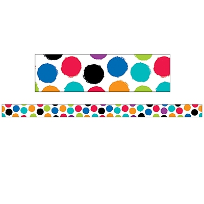 Creative Teaching Press CTP8400, Bold & Bright Colorful Spots Magnetic Decor Strips-Small