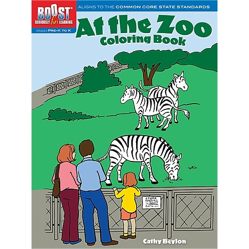 Dover Boost At The Zoo Coloring Book
