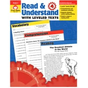 """Evan-Moor® """"Read and Understand With Levelled Texts"""" Grade 4 Resource Book, Language Arts/Reading"""