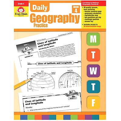 Daily Geography Practice Resource Book, Grade 4