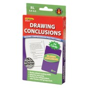 Drawing Conclusions Reading Comprehension Practice Cards, Red Level (RL 2.0-3.5)